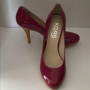 Michael Kors patent leather peony pumps